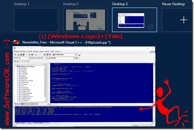 How do I move apps to a new virtual desktop on Windows 10?
