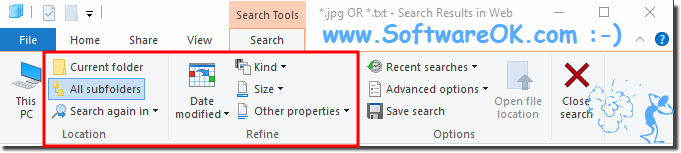 Search query customize in Windows-10!