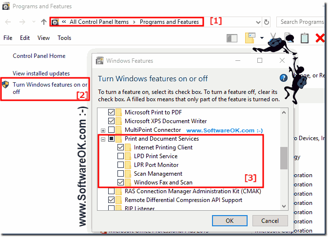 Turn ON-OFF Fax and Scan in Windows!