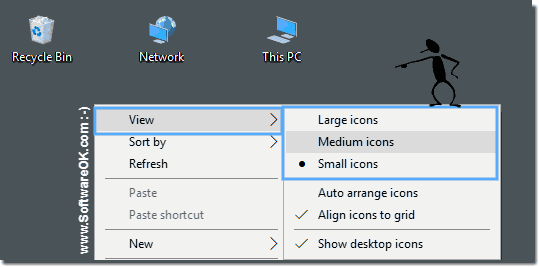 Windows 10 Desktop Icon-Size!