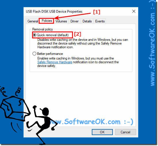 Enable safely remove disk Polices on Win-10!
