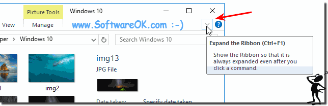 Expand the Ribbon in Windows-10!