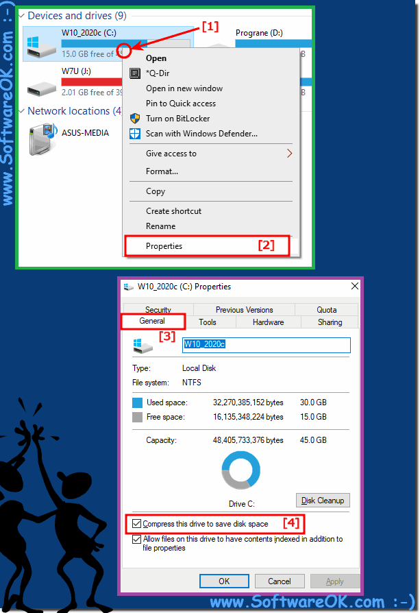 Fix insufficient space on drive C in Windows 10!
