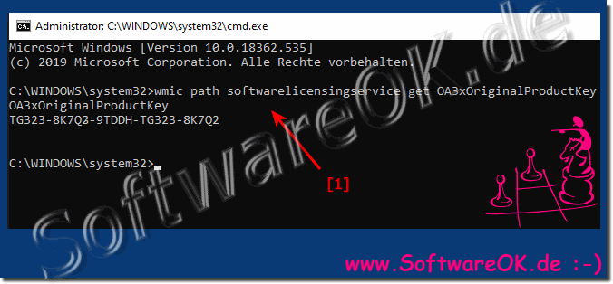 Windows 10 product keys from the command prompt!