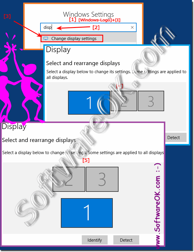 Improve desktop, place second monitor correctly under Windows 10!