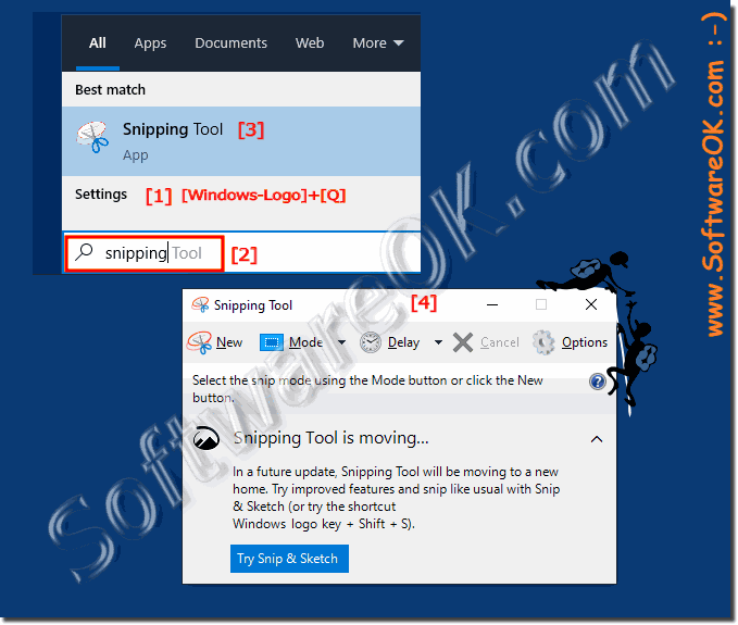 Find Snipping Tool on Windows 10!