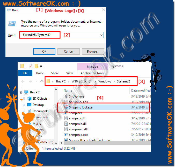 Find Snipping Tool on Windows 10 in System32 Folder!