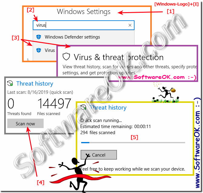 Fast way to a Quick-ly scan for malware and spyware on Windows-10!