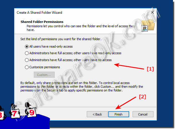 Permissions for Shared Folder on Windows 10!