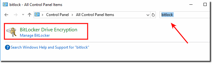 Bitlocker in Control on Windows-10!