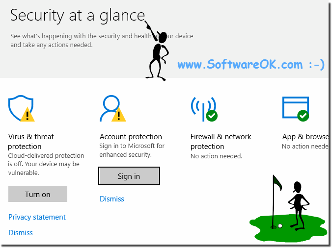 Decutity and glance in Windows 10, derender, account protection!