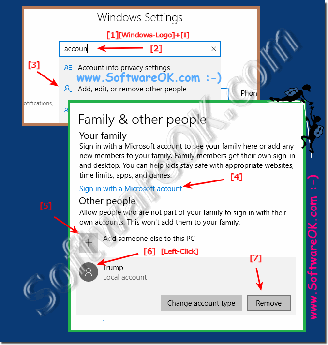 New solution to add and delete Windows 10 accounts!