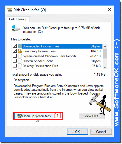 Cleanup System-Disk-C on Windows-10!