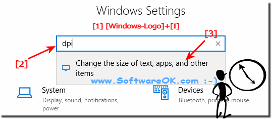 Switch to big font on Windows 10 via DPI!