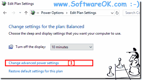 Windows-10 Change advanced power plan settings!