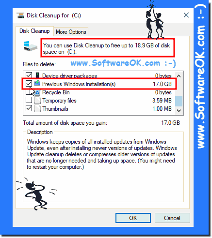Windows 10 and more free disk space!