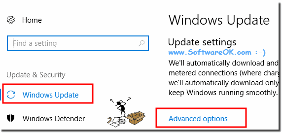 Advanced options for Windows 10 updates!