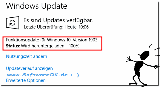 Windows 10: being downloaded hangs at 100 percent!