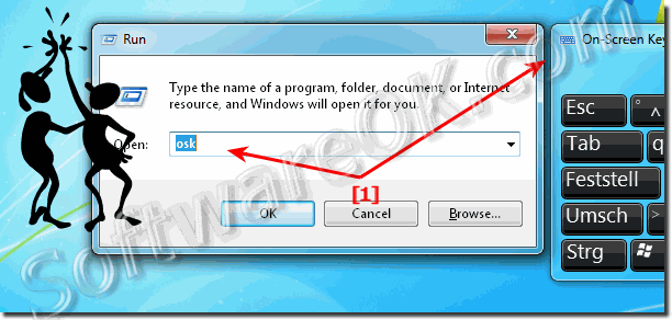 Run the Windows-7 onscreen Keyboard via RUN Dialog!