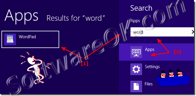 Windows 8 wheres is the word and wordpad