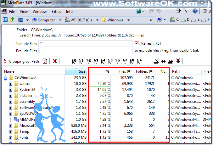 The lost disk space analyse for Windows!