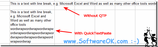 Auto Word Wrap paste example in Microsoft Excel!