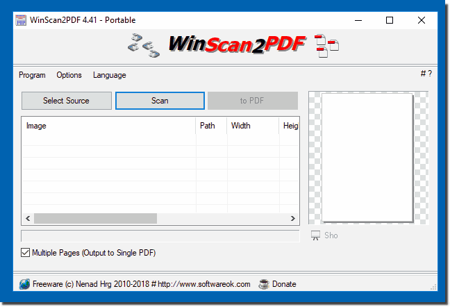WinScan2PDF on Windows 10!