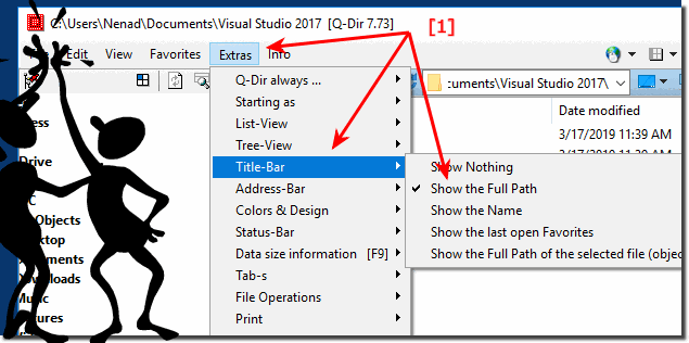 Show full folder path in Title Bar of Quad-Explorer for Windows!