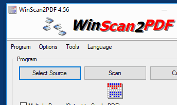 Save the scanned documents into PDF.