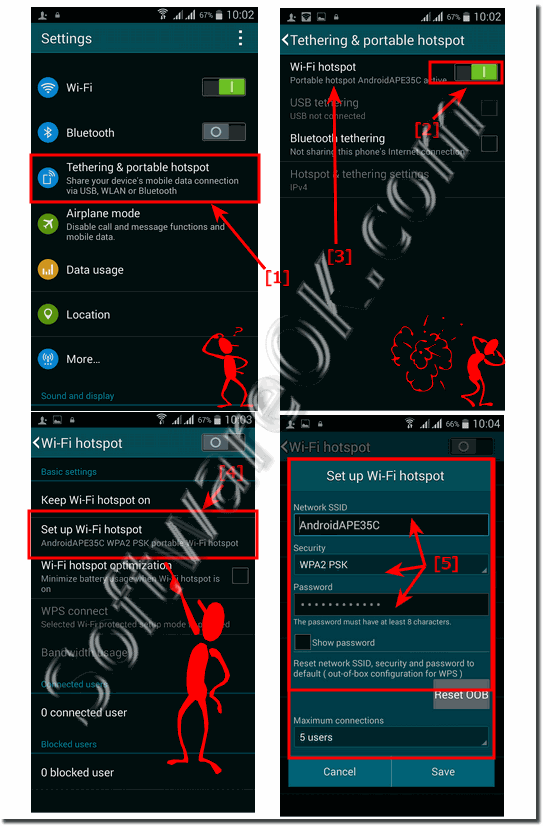 Modify enable the Mobile Hotspot on Android-AP!