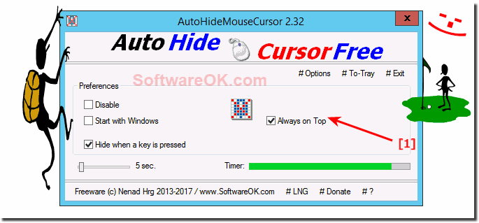 Disable Always ON-Top the Auto-Hide-Mouse-Cursor!