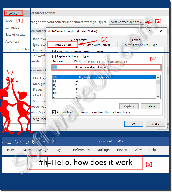 How does it work the custom Autocomplete in MS Office Word!
