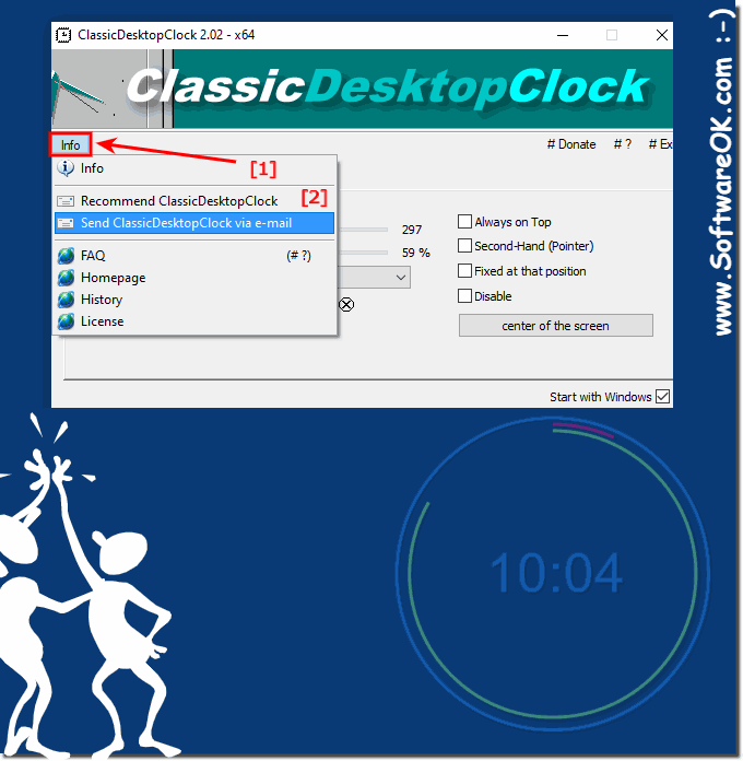 Away share, post the analog freeware desktop clock for Windows to all!