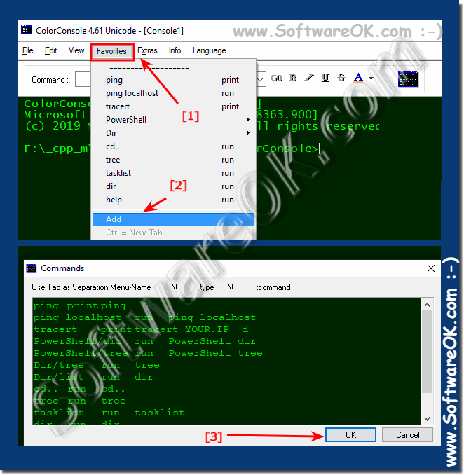 Command prompt (cmd.exe) Favorites!