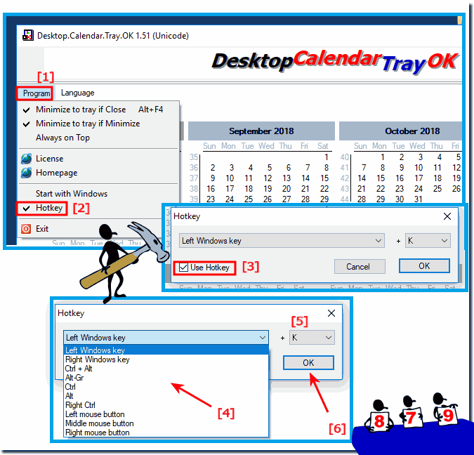 Set hotkey for the day difference calendar as a fast shortcut!