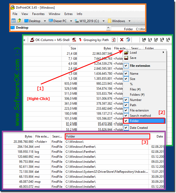 Only show the directory of a file in a column, but how to?