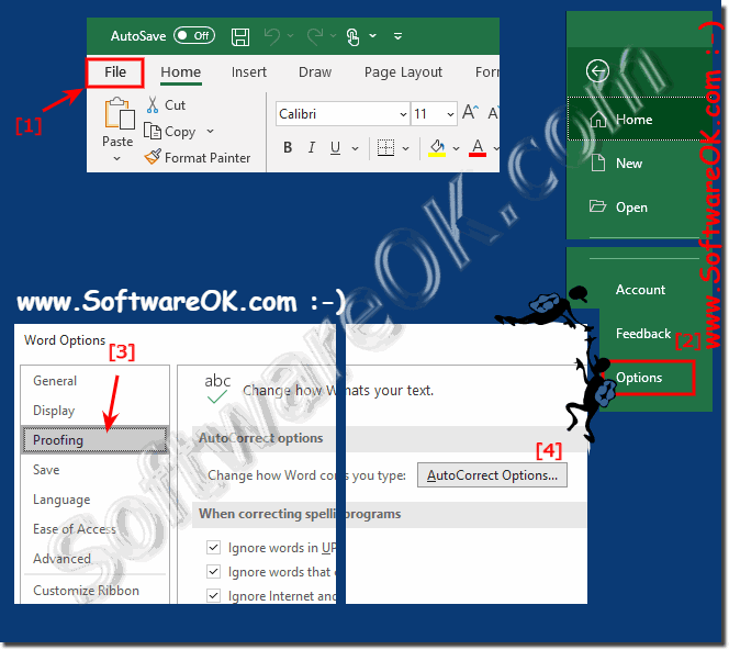 Enable or disable AutoCorrect in Microsoft Word!