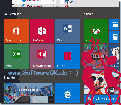 Office-in-Start Menu-from-Windows-10!