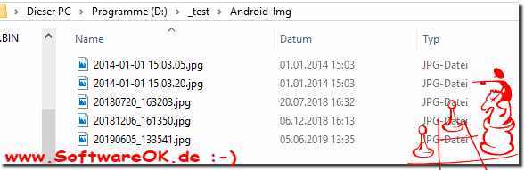 Convert Date Name to File Time from Android Smartphone!