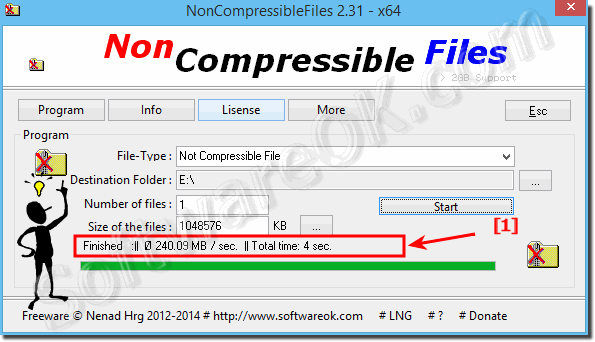 Create Non Compressible Files on Windows x64 with the x64 version!
