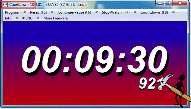 Program Parameters Windows countdown 10 minutes!