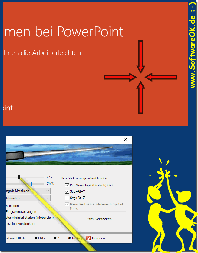 Which pointer should I use as an extended mouse pointer?