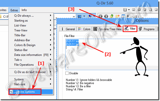 Delete favorite filters in Q-Dir entered by mistake