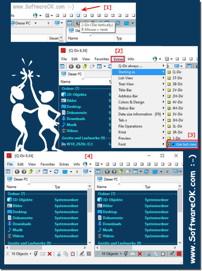 Open only two folders and noy 4 Explorer on Windows OS!