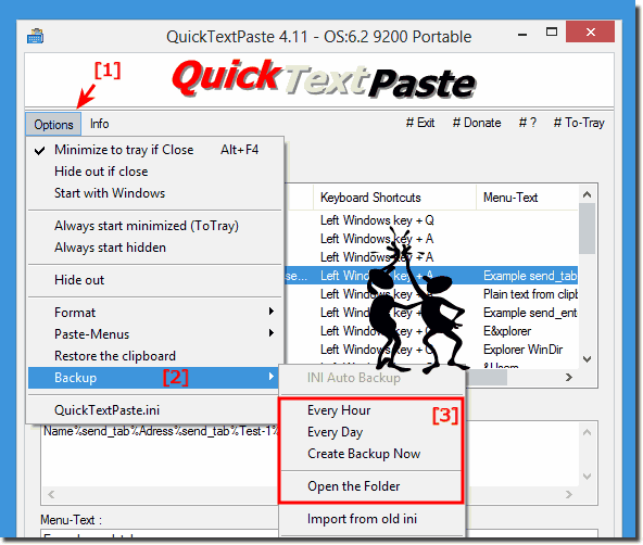 Auto Backup Feature in QuickTextPaste!