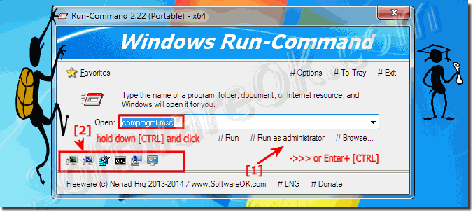 Keyboard Shortcut to Run as administrator in RUN-Command Dialog!