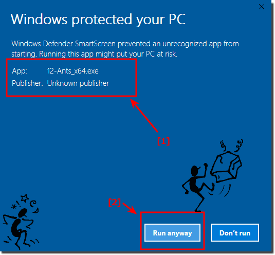 Windows Run Protect Software on the PC!