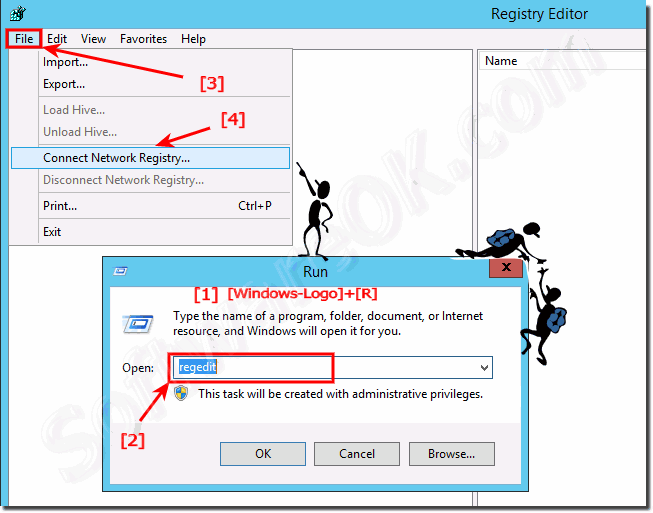 Connect to a Remote Registry on Windows and Server!