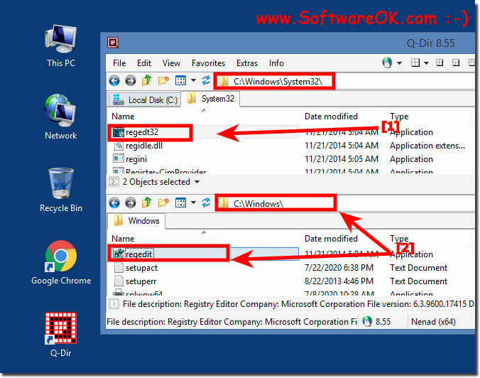 Folder of Registry Editor on Windows!