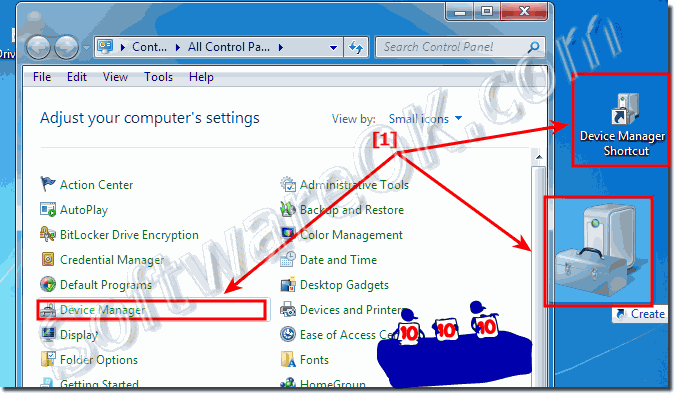 Device Manager Desktop Shortcut for Windows-7!
